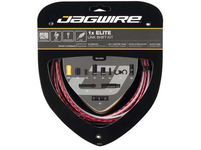 Jagwire 1X Elite Link Set Cable Cambio, rojo